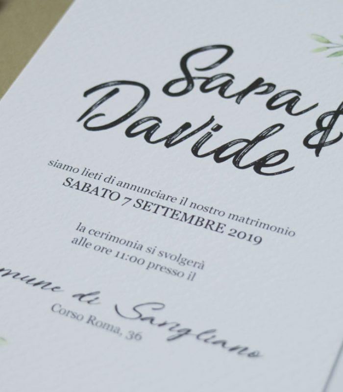 partecipazioni matrimonio - modello Oslo