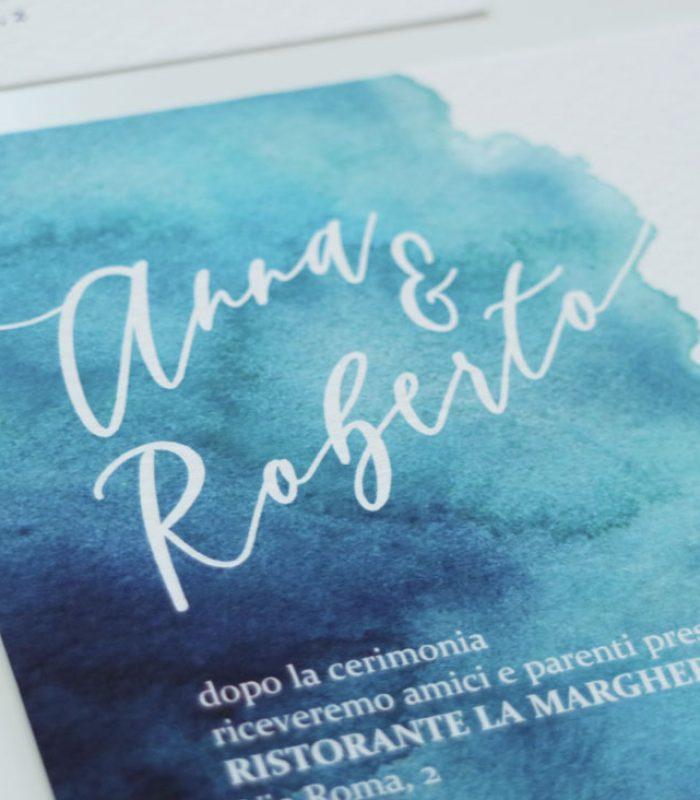 partecipazioni matrimonio - modello Santorini