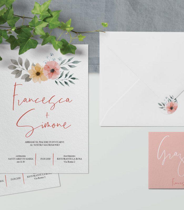 inviti e coordinati per matrimonio - modello Bonn