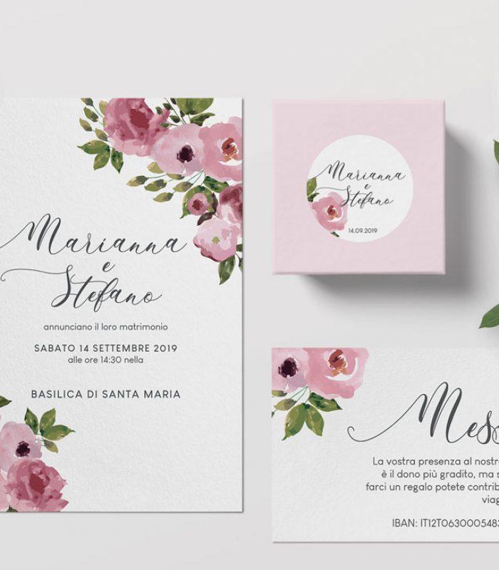 Invito nozze disegno Cancun