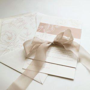 nastro in seta inviti nozze nastrino
